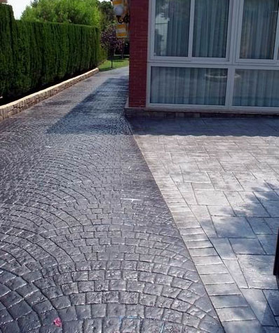 Pavimentos malca impreso adoquin abanico for Hormigon impreso precio m2 malaga